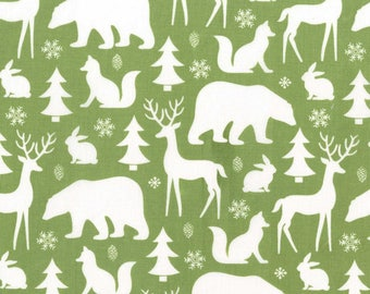Planner Cover - in Michael Miller Woodland Winter Friends fabric - F2