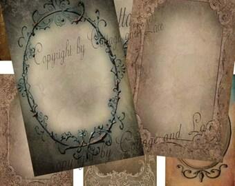 SALE Digital Grunge Hang Tags, Digital Grunge Cards, Digital Collage Sheets  No 878