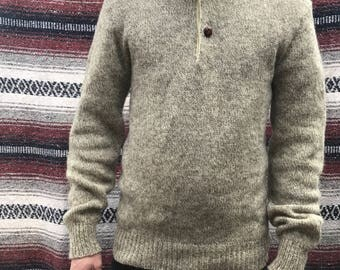 Vintage Mens Wool Pullover: S