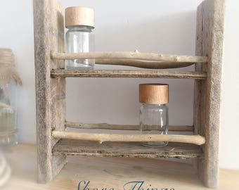 Driftwood Shelf Spice Rack, Nautical Decor, Gift For Men, Beach Kitchen