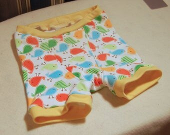 Chickadees organic cotton boxer briefs, colorful chicks kids underwear, children's sizes 1T through 10, trainers also available