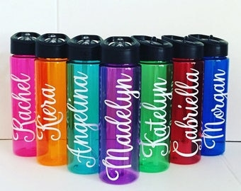 SALE -Personalized Water Bottle, Water Bottle, Cheerleading, Back to School Gift, Custom Water Bottle, Cheer Squad Gift, Team Gift, Footbal