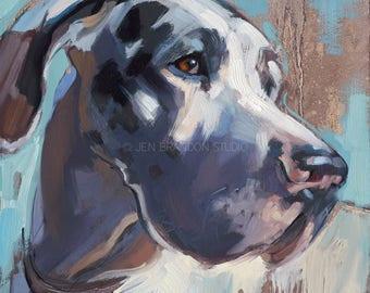 Great Dane Pet Portrait Giclée Fine Art Print