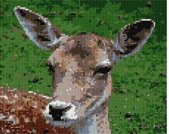 Needlepoint Kit or Canvas: Deer Close Up