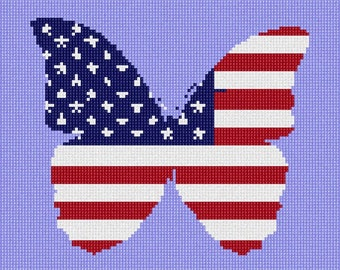 Needlepoint Kit or Canvas: American Butterfly
