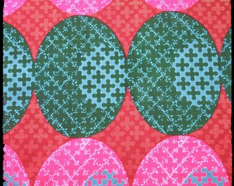 African wax print pink and green/Ankara African fabric / Wax print