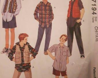 McCall's 7194, Boy's Shirt, Vest, Shorts and Pants Pattern