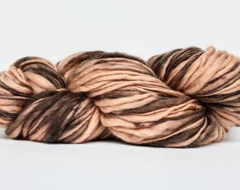 Thick and Thin Yarn, Wool Yarn,  Temptation Tweed Yarn,  Worsted Yarn, Aran Weight yarn, Blanket Yarn,  Shades of Brown