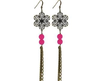 Art Nouveau - Fuchsia earrings