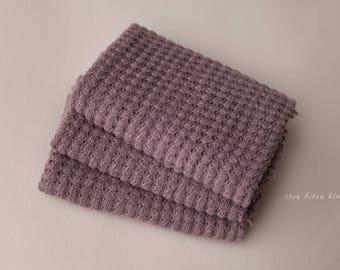 Lucas Newborn Wrap, Newborn Textured Knit Wrap, Newborn Photo Prop, Brown Stretch Wrap, Brown Textured Wrap