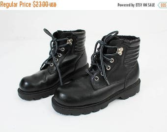 25% OFF Size 38 Boots / Black Leather Boots / Black Ankle Boots / Lace Up Boots / Leather Ankle Boots / Woman Leather Boots / Ladies Leather