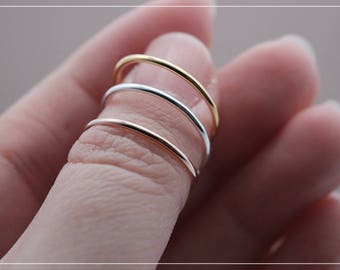 Extra Thin Stackable Rings • Simple, Delicate Rings • Tiny ring • Thin Stacking Ring in Sterling Silver • Skinny Ring