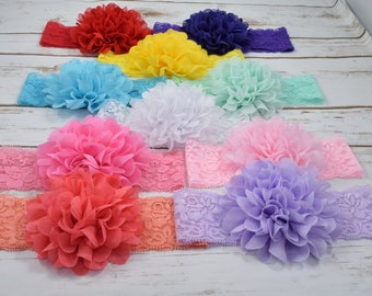 Baby Headbands, Flower Headband Baby, Flower Headband, Flower Headband for Girls, Flower Head Band, Flower Headband Newborn, Headbands