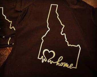 Idaho Tshirt, Idaho souvenir, made in Idaho, Idaho tee, Idaho, Idaho design, Idaho apparel, Idahome, idaho gifts, Idaho Wearables, EKG
