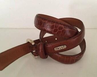 Genuine Brown Leather Belt Lauren Ralph Lauren Size M