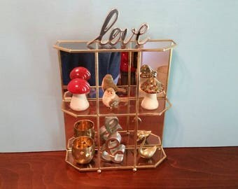 Brass & Glass Display Shelf