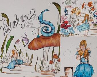 Alice's Adventures in Wonderland Print Trio