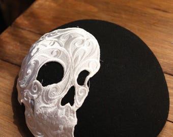 Black and white skull Smartie Hat