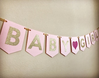 Baby Shower Banner, Girl Baby Shower Banner, Baby Shower Girl Banner, Baby Girl Banner, Girl Baby Shower Decorations
