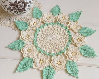 recreate a pretty crochet vintage rose doily