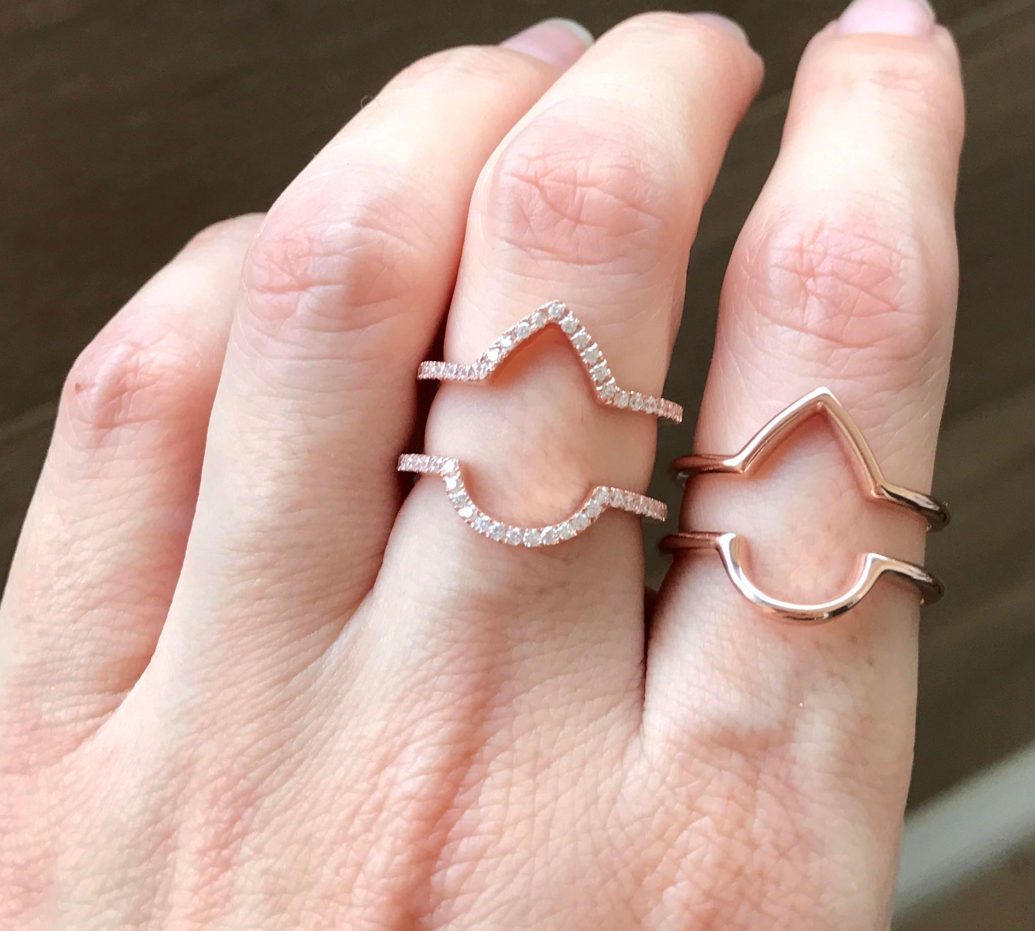 Inspirational Rose Gold Chevron Wedding Ring | Wedding