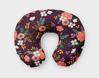 Birch Floral Boppy Cover, Rifle Paper Floral, Birch Floral in Eggplant Nursing Pillow, Rifle Paper Co, Nursing Pillow Cover, Boppy Slipcover