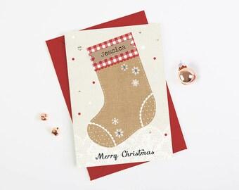 Children Christmas Card - daughter son niece nephew grandchild - personalised