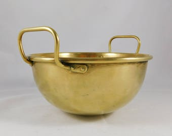 Brass Mixing Bowl, Antique, French Kitchen, Rustic Country Charm, Farmhouse Bowl, Cottage Chic, 1900 - 1909, Rare Find