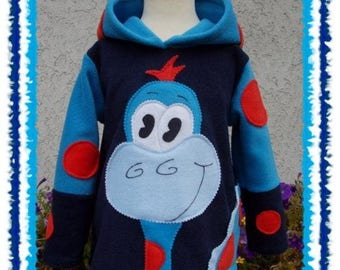 LinO DinO  boys fleece hOOdie custom size