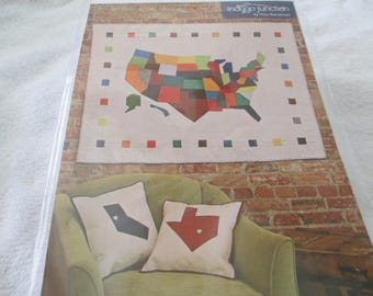 Paper Pattern for a quilt called Modern America by Jerilyn Lijewski for Indygo Junction