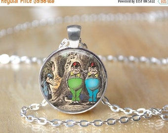 SUMMER SALE Tweedle Dee Necklace - Alice in Wonderland Necklace - Tweedle Dum Necklace - Book Necklace - Literary Gift - Library Necklace 19