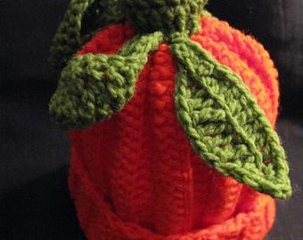 pumpkin hat baby ready to ship crochet new born