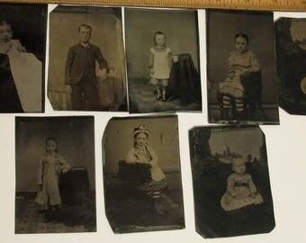 17 Antique Tintype Photos