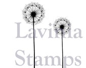 Fairy Stamp, Fairy Dandelions, Lavinia Stamps, Flowers, Acrylic Stamp, Rubber Stamp, Papercraft