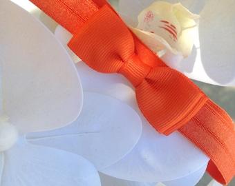 Baby Orange Headband For Newborn