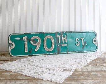 Vintage Street Sign, Green Metal Road Sign, Industrial Home Decor, Loft Wall Art, Wisconsin Street Sign, Metal Street Sign