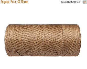 ON SALE Linhasita Waxed Cord, 15 meters/16 yards, Macrame Thread, Bracelet Cord, Hilo encerado - Beige