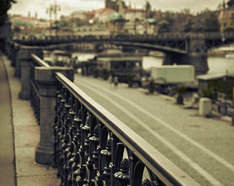Prague Photography, Travel Photography, Fine Art Print, City Photography, Prague Castle, Fine Art Photography, Prague Street Photo, Green