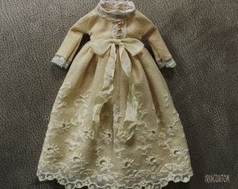 "Ooak Blythe dress by Iriscustom "" Precious Ivory  """