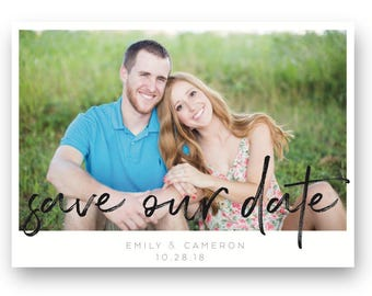 Save Our Date - Wide Vintage Photo Frame