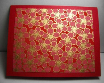 East Indian Cherry Blossoms 7-Card Box
