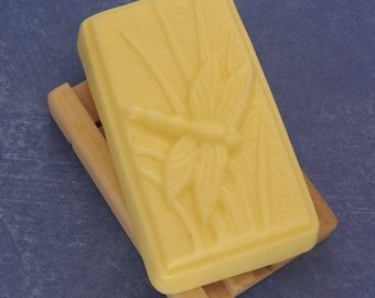 Energy Goats Milk Soap-Handmade Dragonfly Bar-Biodegradable Shrink Wrapped
