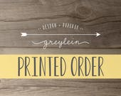 Printed Order Reserved Listing for kailenunley | *please see listing details