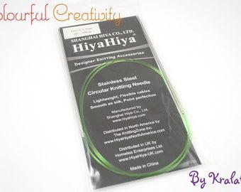 40cm - Hiyahiya Steel circular knitting needles