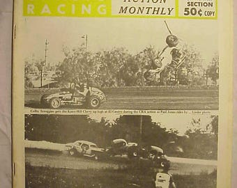 July 1970 Cavalcade of Auto Racing Magazine Action Monthly , NASCAR Stock Car Racing Magazine with 58+ pages of Text & Pictures