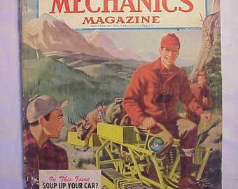 September 1952 Popular Mechanics Magazine has 312 pages of ads and articles Nice Cover Art, Automobile ,Science Magazine