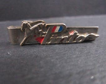 1970s Pinto car tie bar with horse