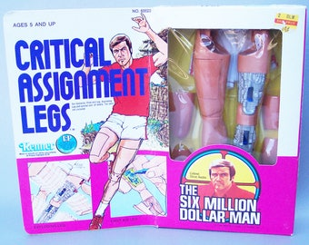 Vintage 1973 Bionic Man Critical Assignment Legs MINT in Sealed Box C9 Near Mint Very Rare