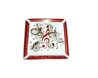 """Tidy China pattern """"music in red madness"""""""