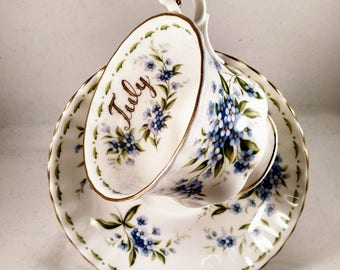 Royal Albert Bone China Birthday Tea Cup